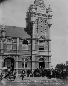 1904 - opening of post office clock tower (Image sourced Ashburton Museum)
