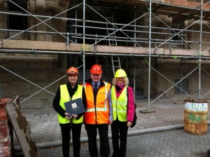 From left, Anna Crighton, Gary Jarvis and Susan Gibson outside the Worcester Street entrance of the Heritage Hotel (Old Government Buildings)